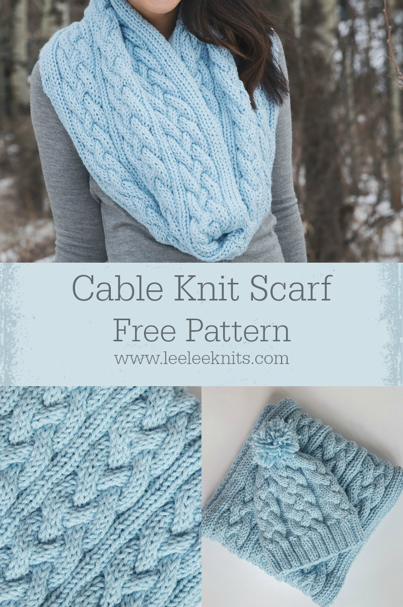 Knitting Pattern For Infinity Scarf On Straight Needles