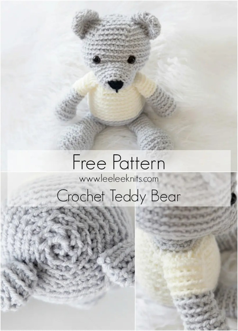 FREE PATTERN: Small Long-Legged Teddy Bear – Kristi Tullus | 1139x820