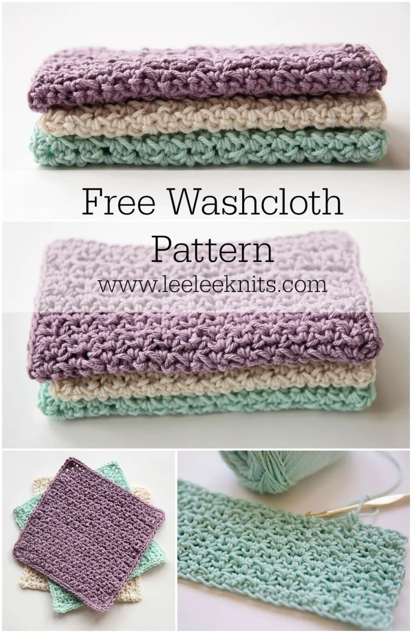 My Favourite Crochet Washcloth - Leelee Knits