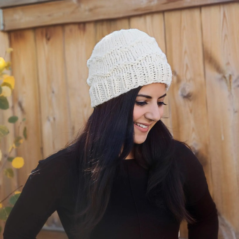 30a8f892545 The Coziest Winter Hat Knitting Pattern - Leelee Knits
