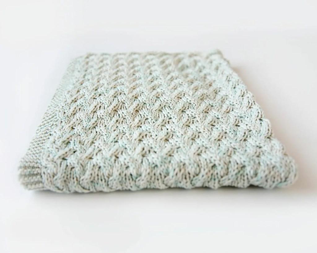 Waterfall Baby Blanket - Leelee Knits