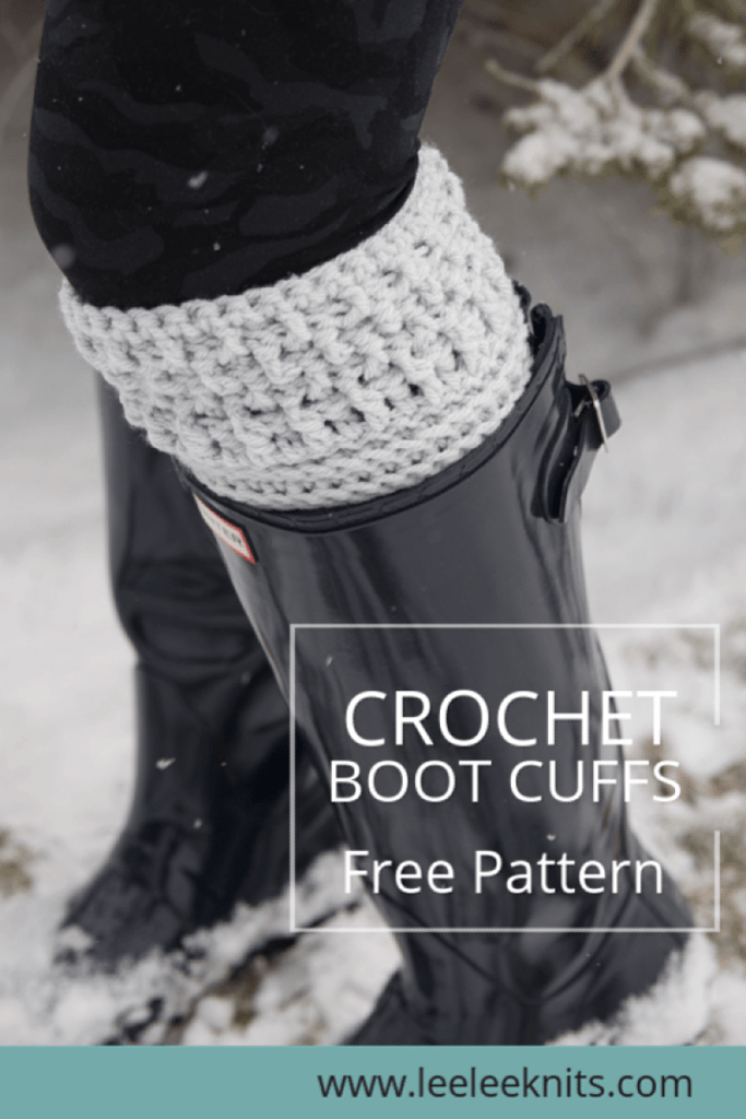 Modern Textured Boot Cuffs Crochet Pattern Leelee Knits