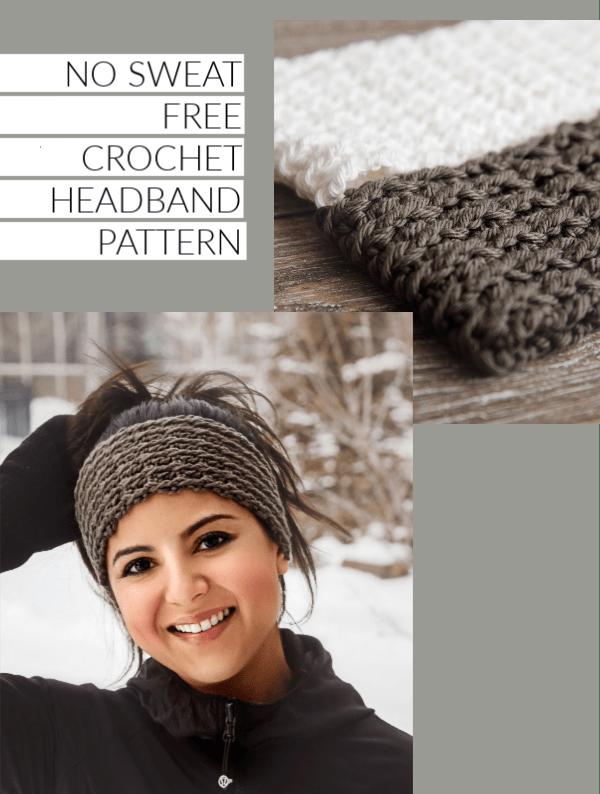 No Sweat Free Crochet Headband Pattern Leelee Knits