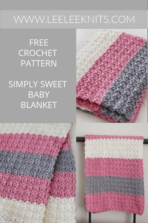 Simply Sweet Crochet Baby Blanket Pattern - Leelee Knits