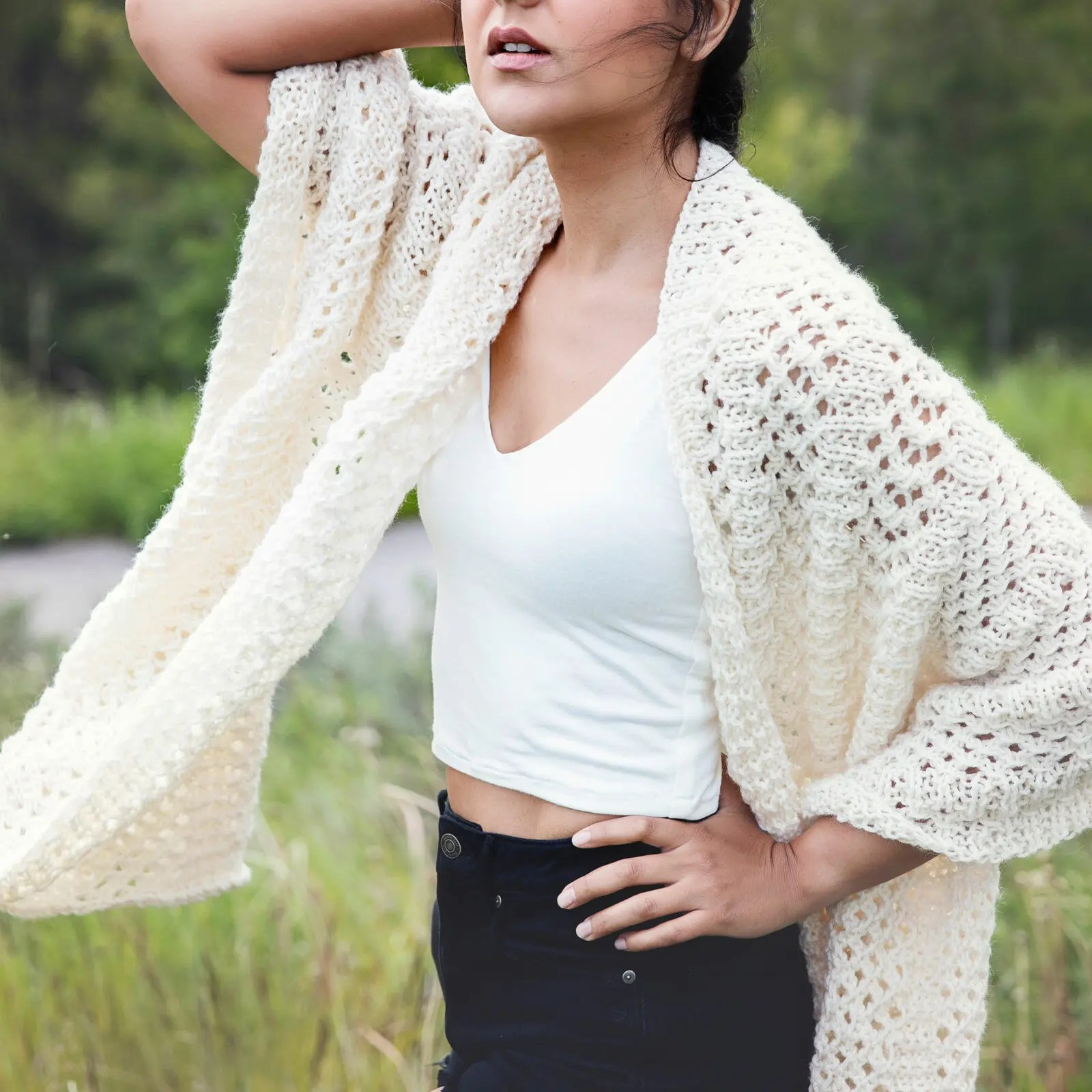 Knitted Wrap Pattern for a Bohemian Inspired Shawl - Leelee Knits