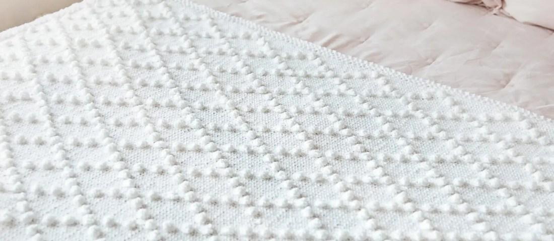 Bobble Stitch Blanket Knitting Pattern
