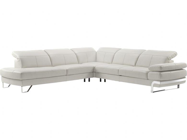 grey leather corner sofa uk bench for restaurant rom lucia rhf modern lee longlands right hand facing