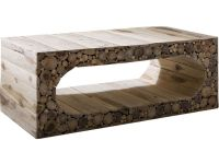Stoneyhurst Log Wood Coffee Table - Lee Longlands