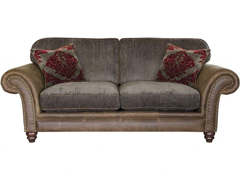 carnegie 2 seater leather fabric sofa