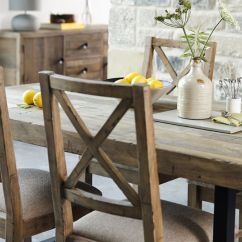 Rustic Dining Chairs Uk Sea Grass Chair Halsey Reclaimed Cross Back Lee Longlands Collection