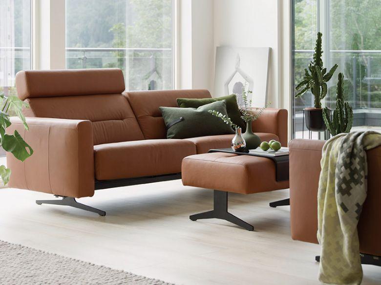 stressless stella leather corner sofa