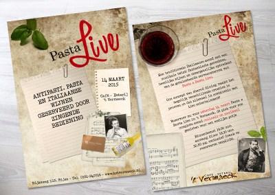 Flyer Pasta Live