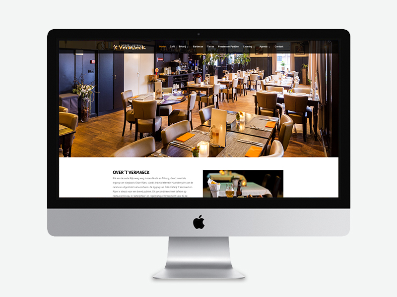Leenaars Design | Grafisch ontwerp en webdesign | Website 't Vermaeck