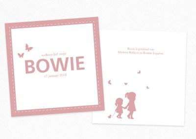 Geboortekaartje Bowie