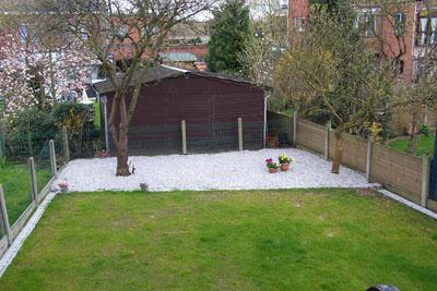 De tuin op 31 maart 2008