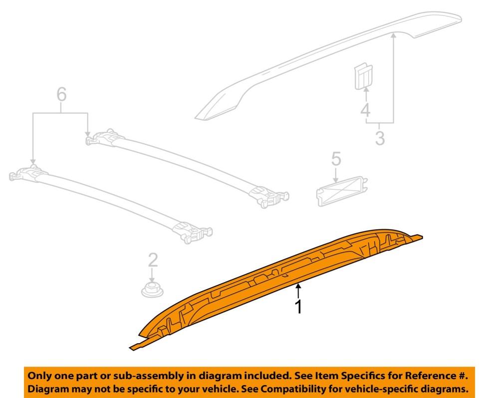 medium resolution of gmc terrain roof rack rail luggage carrier side rail