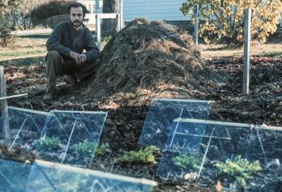 Lee, 1974, in garden
