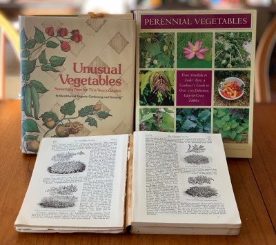 Books, unusual vegetables