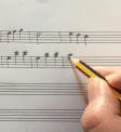 Compositie op bladmuziek zetten