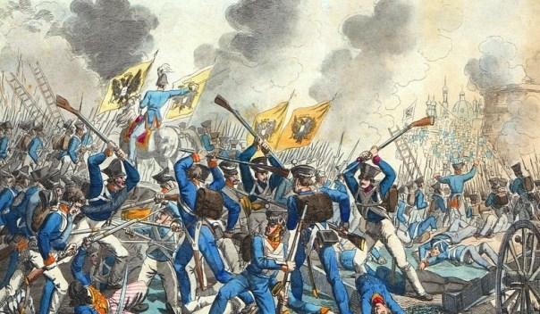 Russische aanval op Warschau in 1831