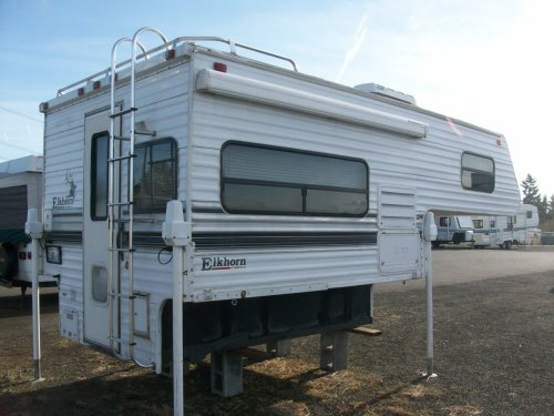 small resolution of 1998 fleetwood 8 elkhorn slide in camper