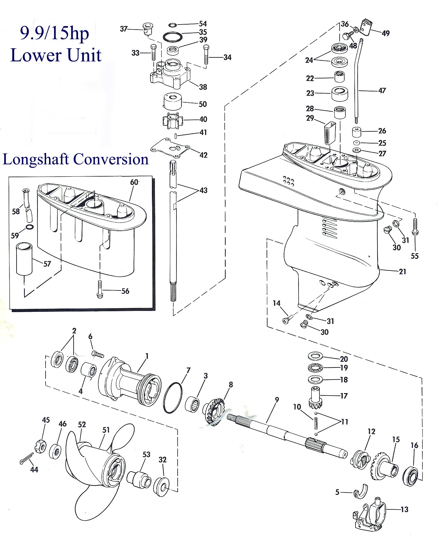hight resolution of exploded view of the lower unit