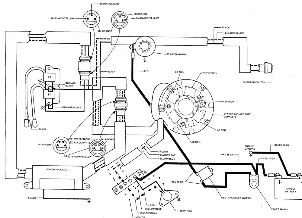 medium resolution of electrical diagram for electric starter motor