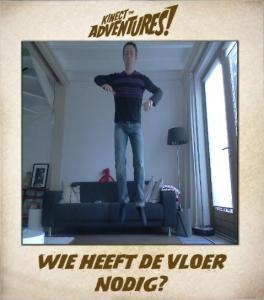 Jeroen in actie met de Kinect