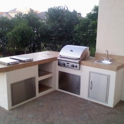 Outdoor Kitchen Bbq Tall Cabinet With Doors Custom Built In Barbecue Perfect Home And Garden Design