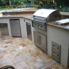 Custom Outdoor Kitchens Kitchen Greenhouse Window With Infinity Gas Grill Built In