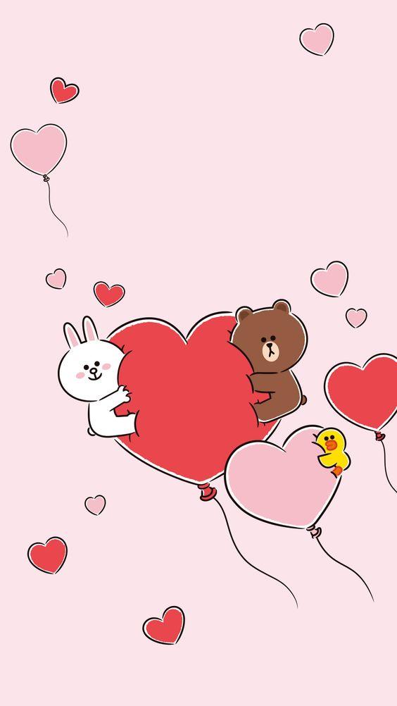 Drawing Wallpaper Iphone 30张 Line Friends 布朗熊超可爱手机壁纸!让超治愈的可爱萌物陪你度过每一天! Leesharing