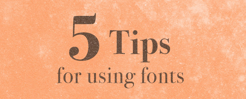 Five Tips for Using Typography in Infographics