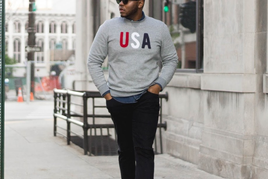 Outfit Inspiration: Patch Fleece Sweatshirt