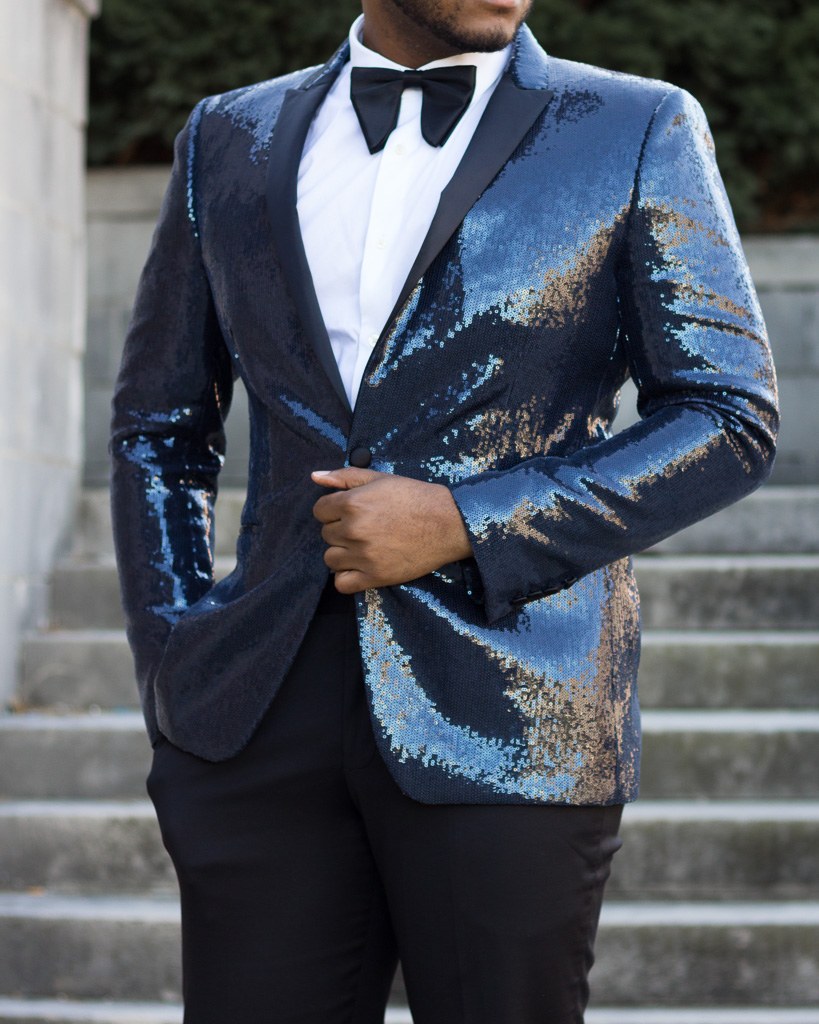sequin blazer mens