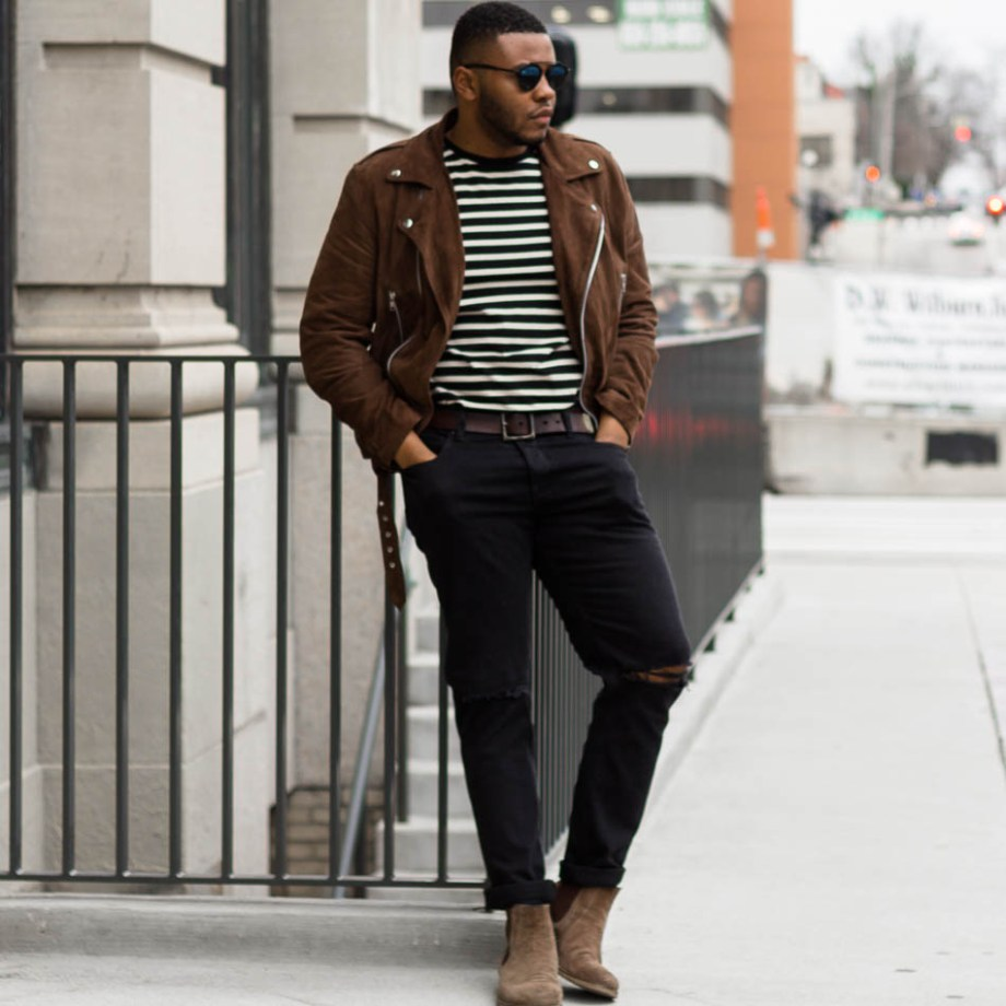 Suede on Stripes