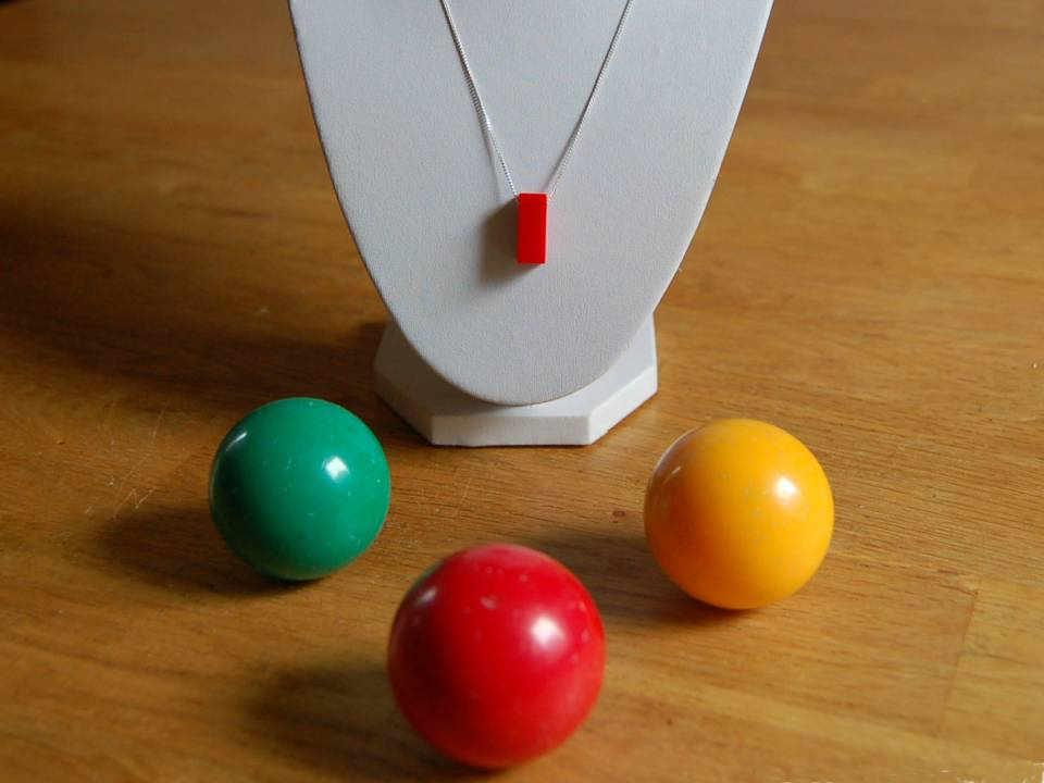 Snooker ball necklaces