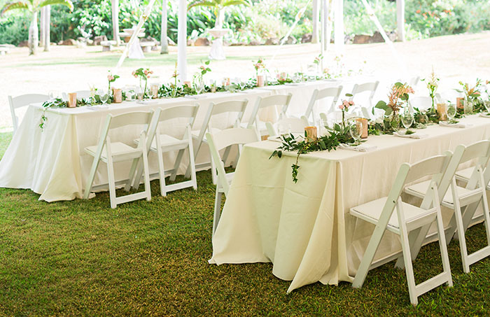 renting folding chairs double lounge chair outdoor event table rentals lee s kauai