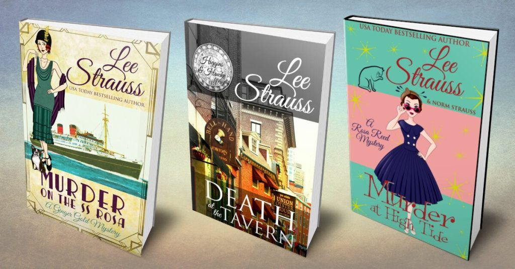 cozy mystery book covers by lee strauss