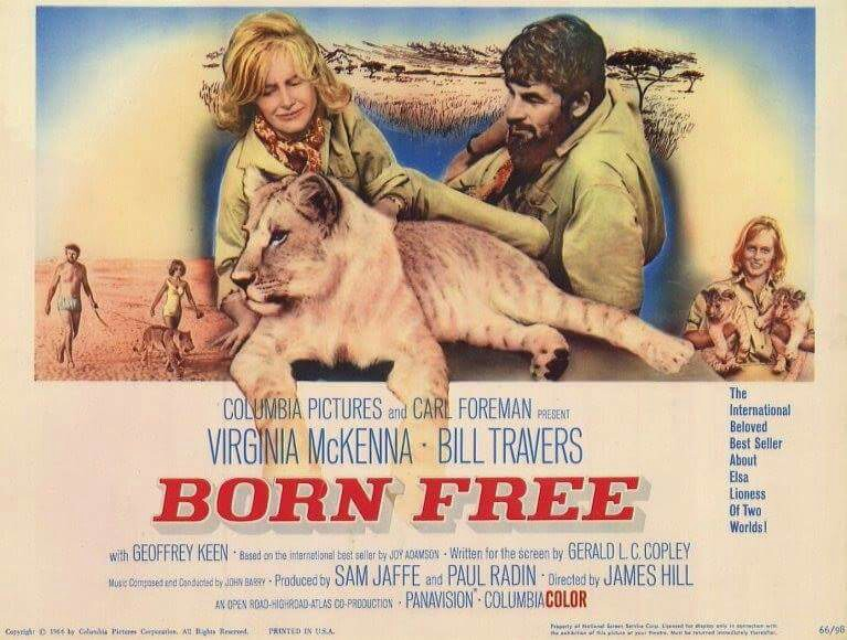 Born Free - 1966 - starring Virginia McKenna and Bill Travers