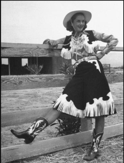 vintage cowgirl, 1950s fashion