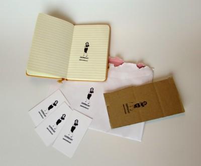 visitekaartjes stempel papieridee