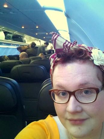 london airplane pincurls no make-up