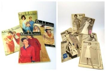 collage vintage patroontijdschriften