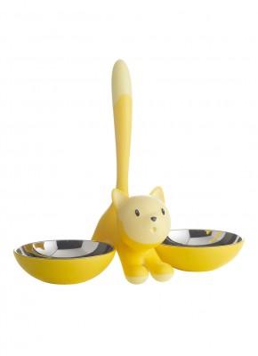 geel kattenvoer bakje