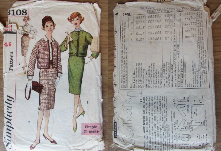 LeesVoer Vintage Patronen simplicity 3108 60s