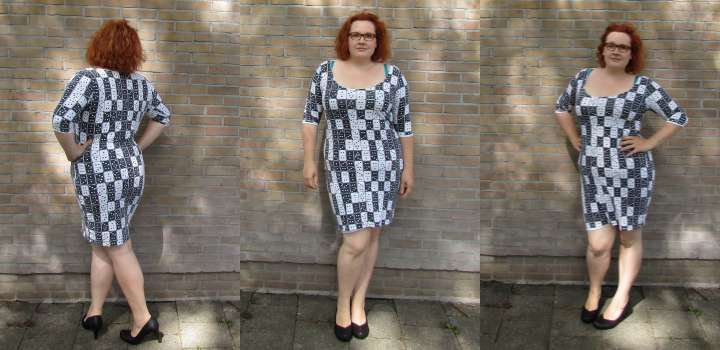 LeesVoer Refashion victims domino dress