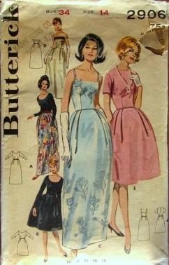 vintage patronen butterick 2906