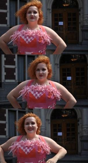 papieren jurk collage