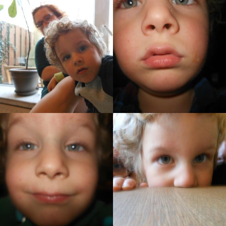 Selfies kleuter fotograaf