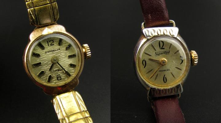 close up wijzerplaten Vintage horloges opwindbaar fifties leesvoer 5
